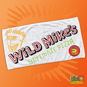 pizza rebel white beach towel