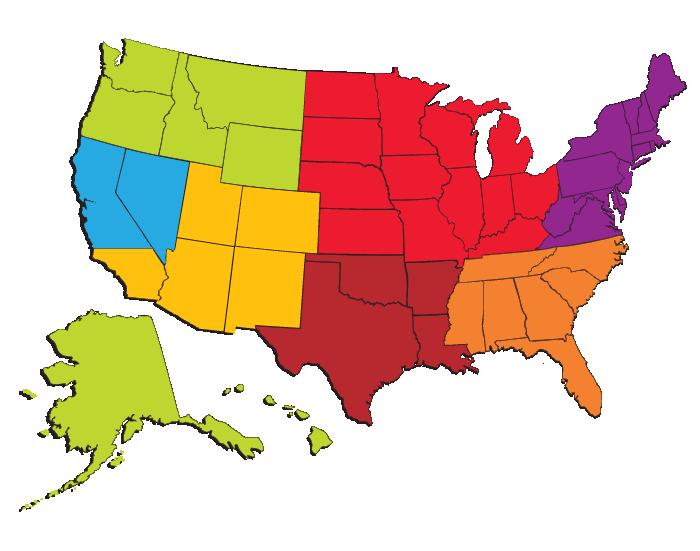 food service sales map
