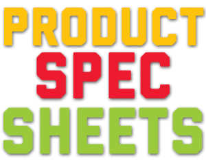 product spec sheets