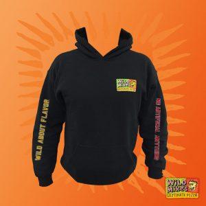 distressed black hoodie