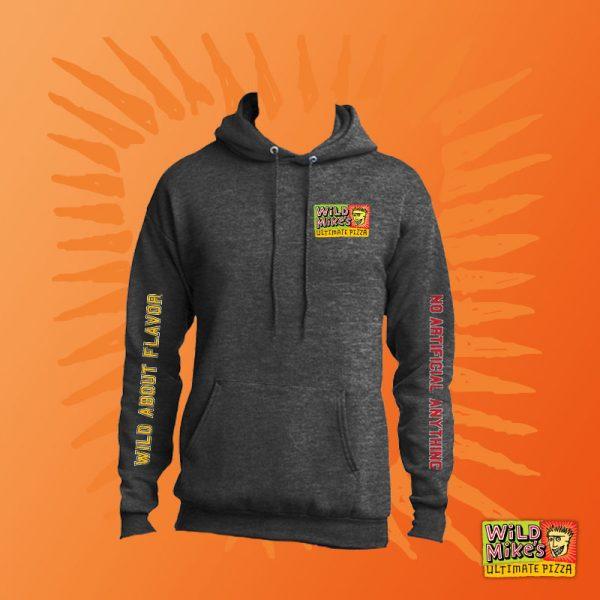 distressed hoodie charcoal